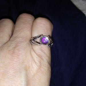 .925 Sterling /Iridescent Topaz Ladies Ring Sz 8